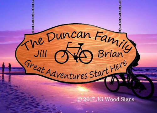 Personalized Camping Signs Wood - Bicycle - RV Sign Outdoor Sign JG Wood Signs Etsy Wood Camping Signs Cottage Sign Duncan