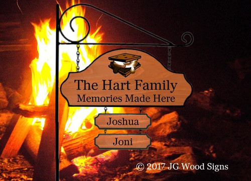 Personalized Camping Signs with Stand