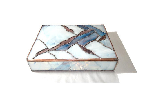 Stained Glass Trinket Keepsake Box