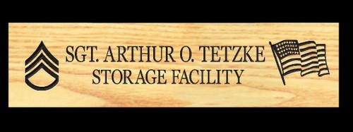 Special Order -  Wood Carved Sign - Tetzke
