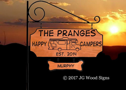 Wooden RV Signs
