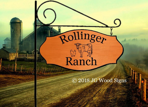 Wooden Ranch Sign