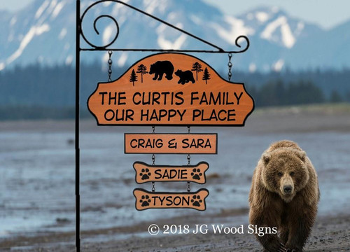 Wood Camping Signs, custom cabin sign