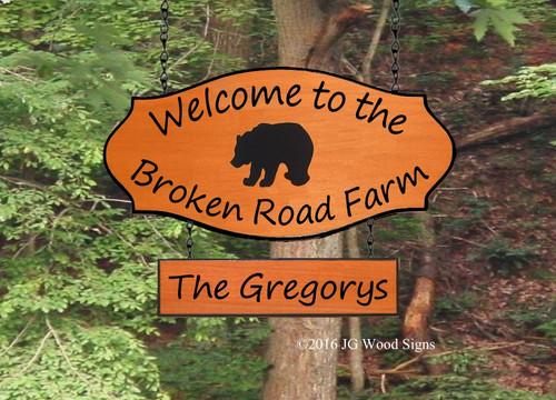 Bear RV Camping Name Sign