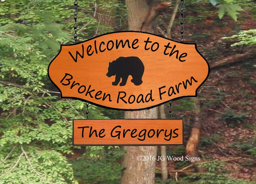 Bear RV Camping Name Sign