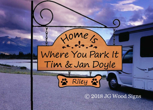 RV Wooden Sign