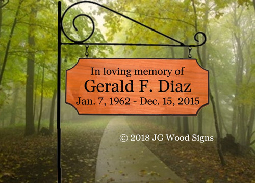 Personalized Cemetery Sign