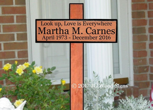 Wood Cross Grave Markers