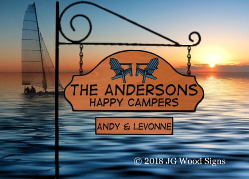 Personalized Wooden Camp Signs