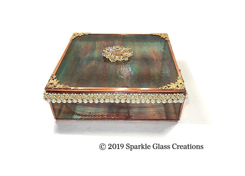 Stained Glass Memento Box