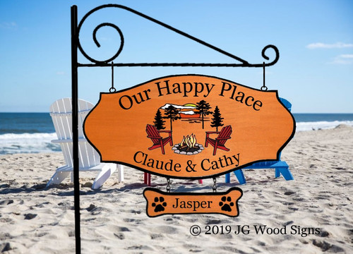 Personalized Camping Signs Everything Graphic - Custom Carved  Sign - with Sign Holder Option Pine Sunset Camper Sign ClaudeCathy