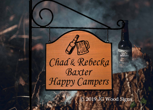 Wooden Happy Campers