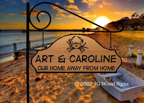 Personalized Beach Signs, Wooden Camper Sign