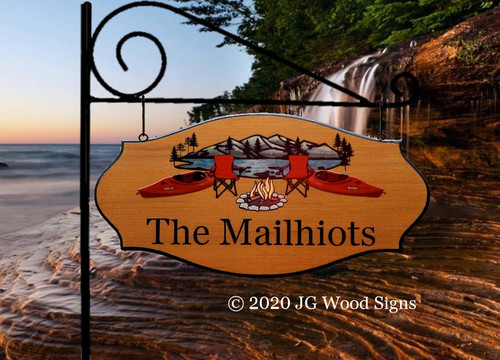 Personalized Camping Signs Gift