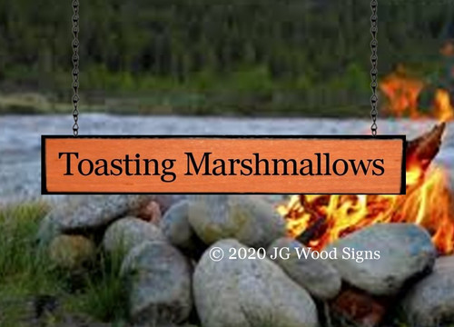 Custom Camping Wooden Signs Add On Board - Toasting Marshmallows  Wood Camper Sign JG Wood Signs Custom RV Sign ToastingMarshmallows2