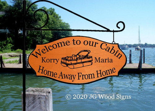 Camping Sign PontoonGraphic - Custom Camping Sign - Dad Gift with Sign Holder Option  Home Away From Home JGWood Signs Custom RV Sign KorryMaria