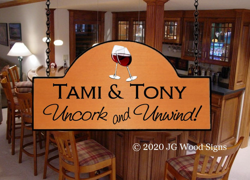 Camping Wood Signs Name Sign - Home Away From Home Wine Glass Graphic - Custom Sign Carved Sign Cabin Sign - Dad Gift - JGWoodSigns - Etsy Personalized Gift TamiToni