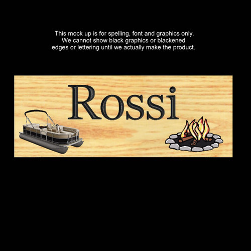 DOUBLE SIDED Special Order -  Wood Carved Sign - ROSSI