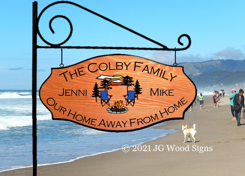 Personalized Camping Signs Everything Graphic Camp Chairs - Custom Carved  Sign - with Sign Holder Option Pine Sunset Camper Sign Colby