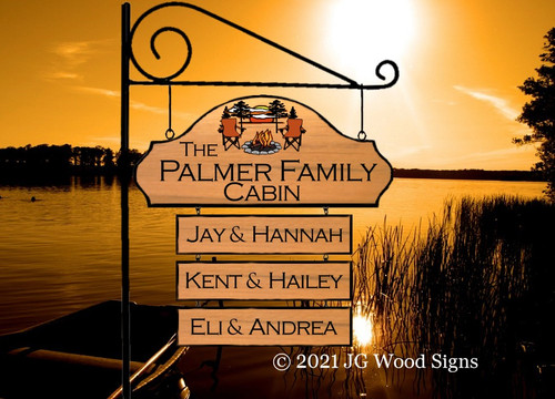 Cabin Name Sign