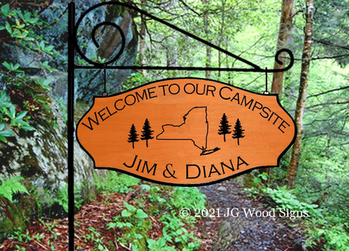 Wooden Camp Signs