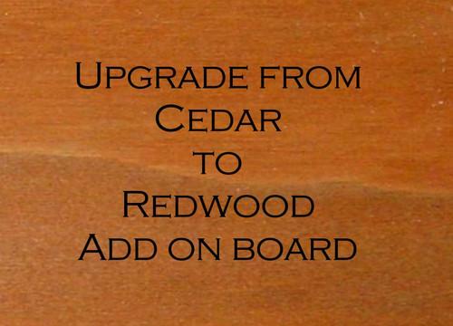 Upgrade from Cedar board to Redwood Board
