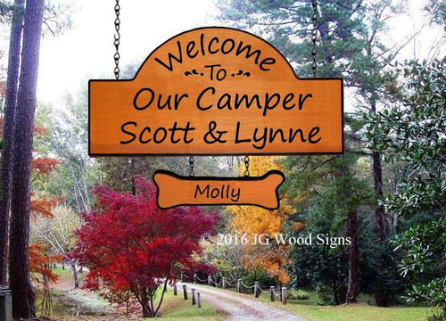 Wood Camping Signs Personalized Sign