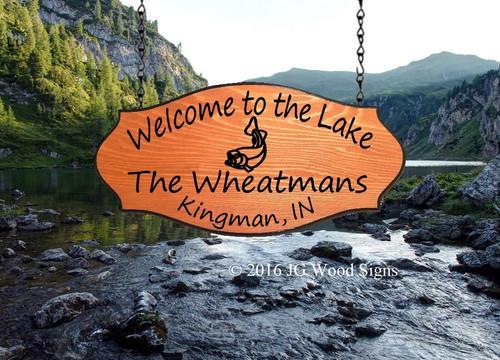 Lake Camping Signs