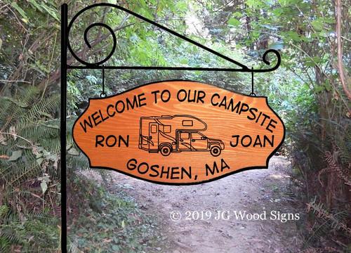 RV Name Sign Truck Camper RV Camping Name Sign - Custom Carved Wood Sign Camper Sign RonJoan