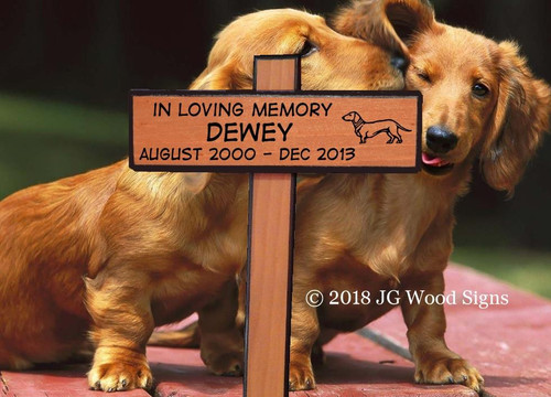 Carved Dog Name Customized Wood Pet Marker