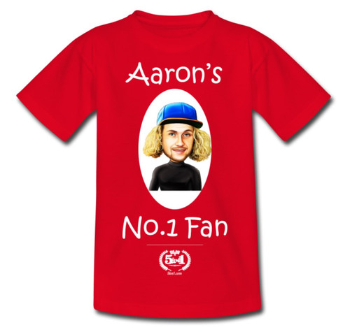 Aaron Summers Kids T-Shirt Red