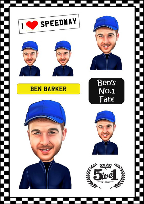 Ben Barker Sticker Sheet