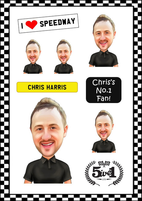 Chris Harris Sticker Sheet