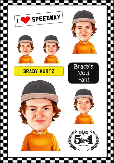 Brady Kurtz Sticker Sheet