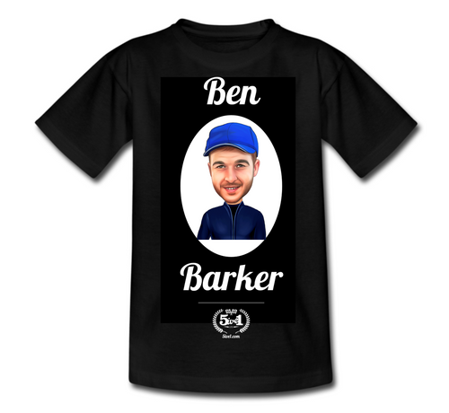 Ben Barker Adult T-Shirt - Black
