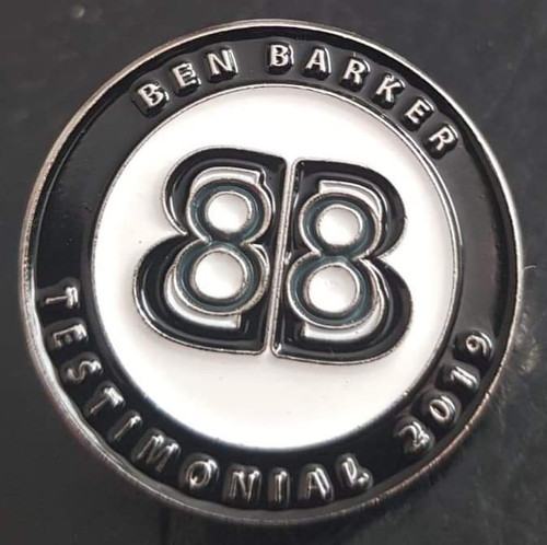 Ben Barker Official Commemorative Testimonial Badge