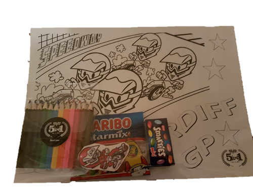 Kid's Activity Pack 4 - Cardiff GP - Colouring