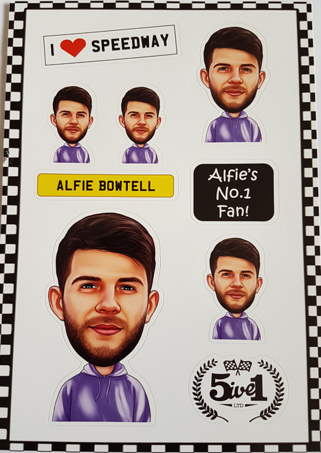 Alfie Bowtell Sticker Sheet