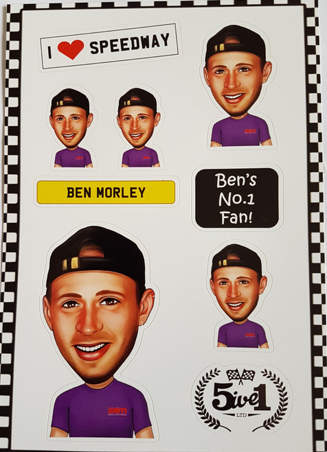 Ben Morley Sticker Sheet