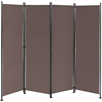 4-Panel Room Divider Folding Privacy Screen-Coffee (HW65773CF)