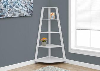 """Bookcase - 60""""H / White Corner Accent Etagere (I 2425)"""
