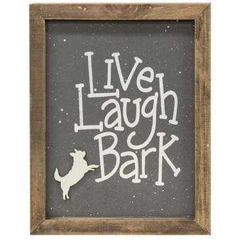 Live Laugh Bark Frame