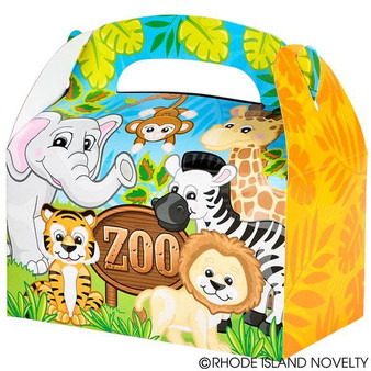 "(PSZOOT6) 6.25"" Zoo Animal Treat Boxes"