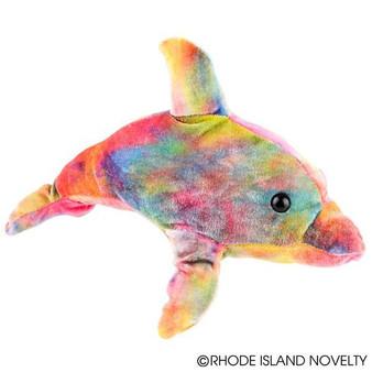 """(PLTDO13) 13"""" Tie Dye Dolphin"""