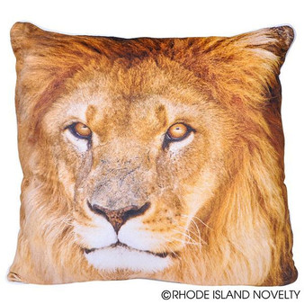 """(APPRLIO) 13"""" Printed Lion Pillow"""