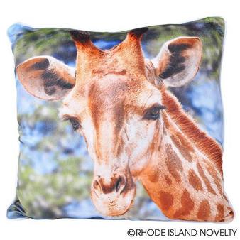 """(APPRGIR) 13"""" Printed Giraffe Pillow"""