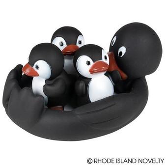 (AKPENBA) 4Pc Penguin Bath Play Set