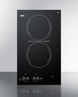 (CR2220) 220V Two-Burner Cooktop In Black Ceramic Glass