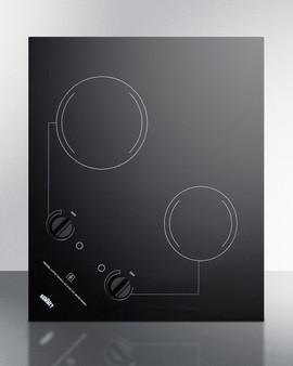 (CR2B122) 2-Burner 120V Electric Cooktop Designed For Portrait