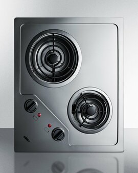 (CR2B223G) 2-Burner 230V Electric Cooktop Designed For Portrait